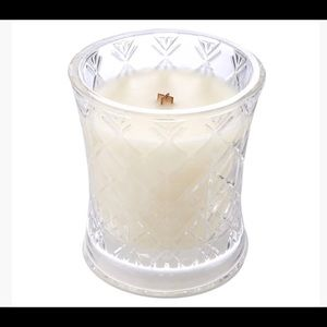WOODWICK NEW Black Oud Glass Candle
